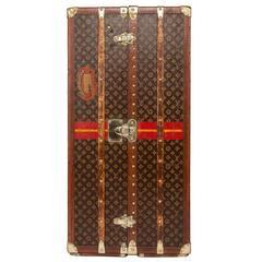 Antique 20th Century Rare Louis Vuitton Monogram Wardrobe Trunk, circa 1920