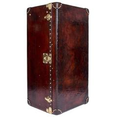 Antique 20th Century Louis Vuitton Custom Order Leather Wardrobe Trunk