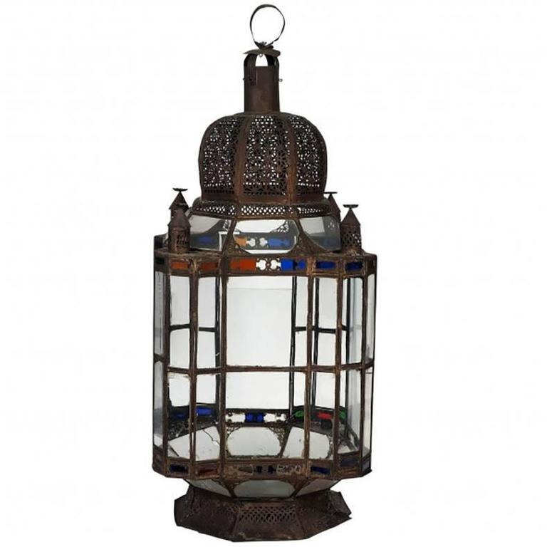 Antique Large Moroccan Candle Lantern