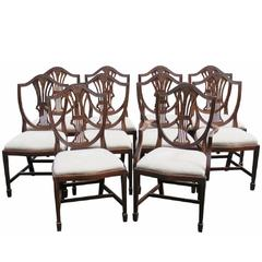 Ten Louis XV Style Mahogany Carved Dining Chairs