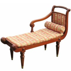Diminutive French Regency Style Cane Recamier Daybed Chaise