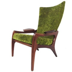 Mid-Century Modern Wingback Lounge Chair by Adrian Pearsall