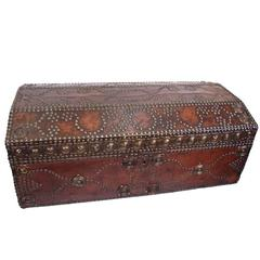 Leather and Brass Studded Trunk