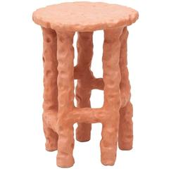 Terracotta Side Table by Chris Wolston