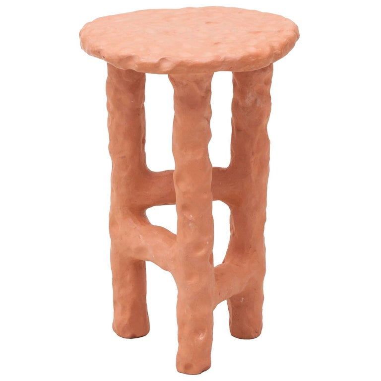 Terracotta Side Table by Chris Wolston For Sale
