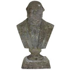 Antique British Stone Bust of William Ewart Gladstone