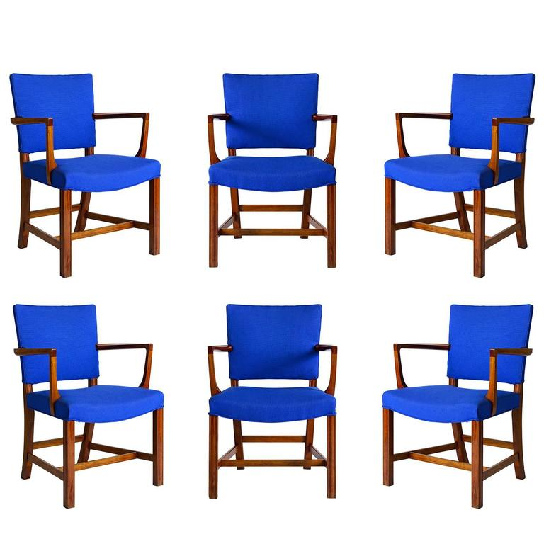 Set of Six Kaare Klint Armchairs