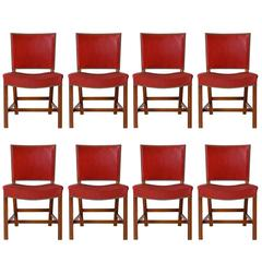 Set of Eight Kaare Klint Dining Chairs
