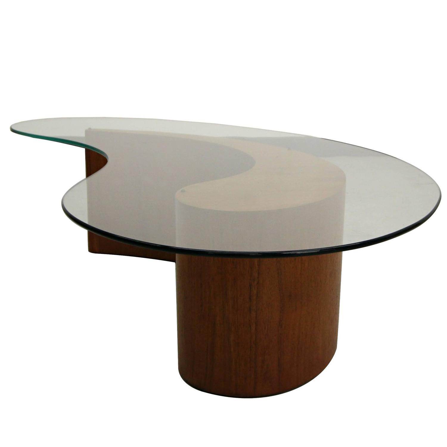 Vladimir Kagan Biomorphic Walnut ma Apostrophe Coffee Table For