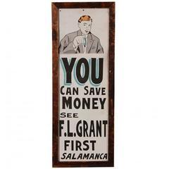 Vintage Framed Tin Signage