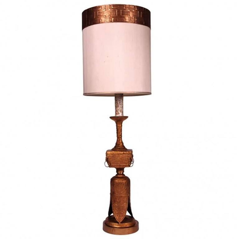 Mid-Century Sculpted Lamp in the Manner of James Mont 1