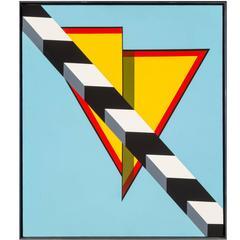 """""""Landscape"""" Acrylic on Canvas, 1967 by Allan D'Arcangelo"""
