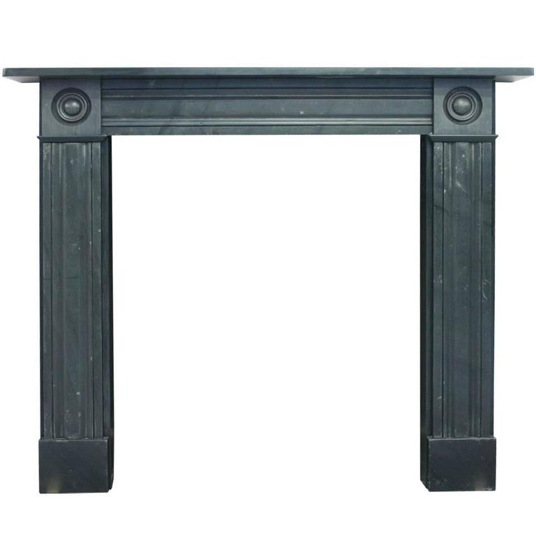 Early 19th Century Regency Slate Fireplace Surround For