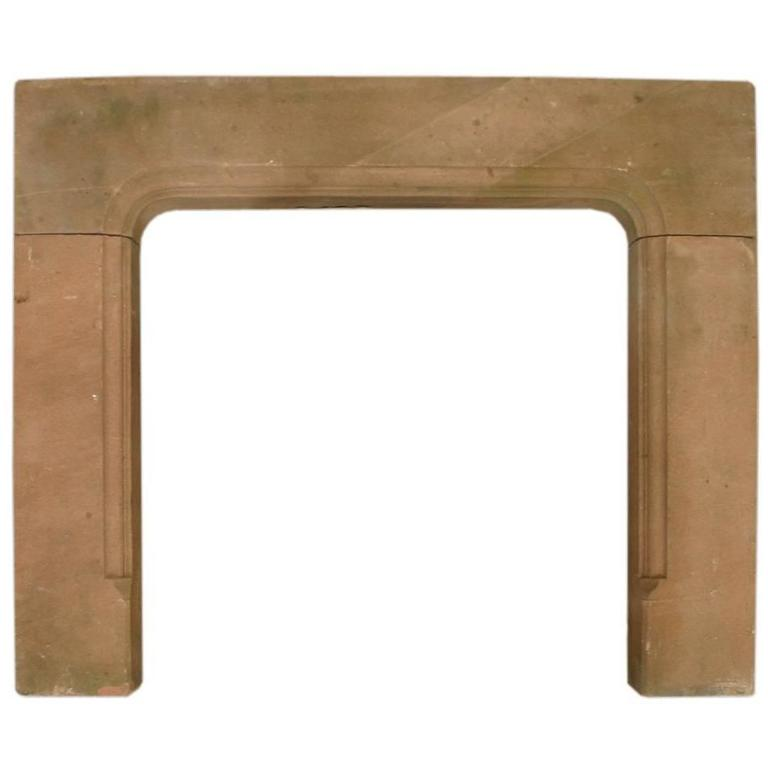 Sandstone Fireplace reclaimed mid-19th century red sandstone fireplace surround for