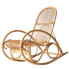 Rocking chair for sale at 1stdibs for Yellow schaukelstuhl