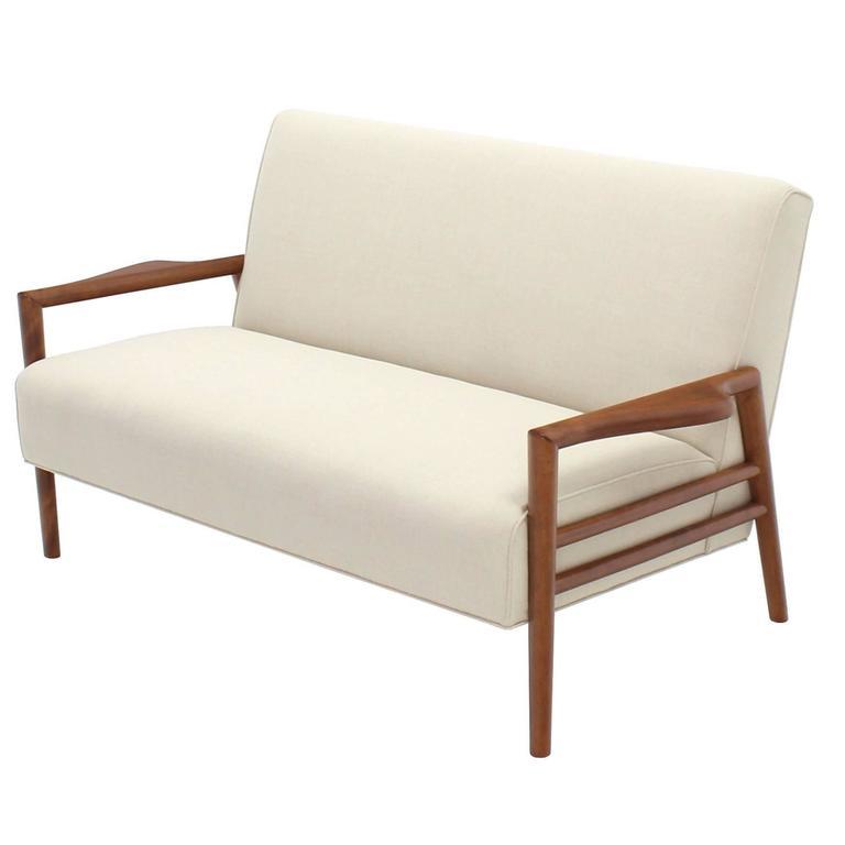 New Upholstery Danish Modern Loveseat Sofa