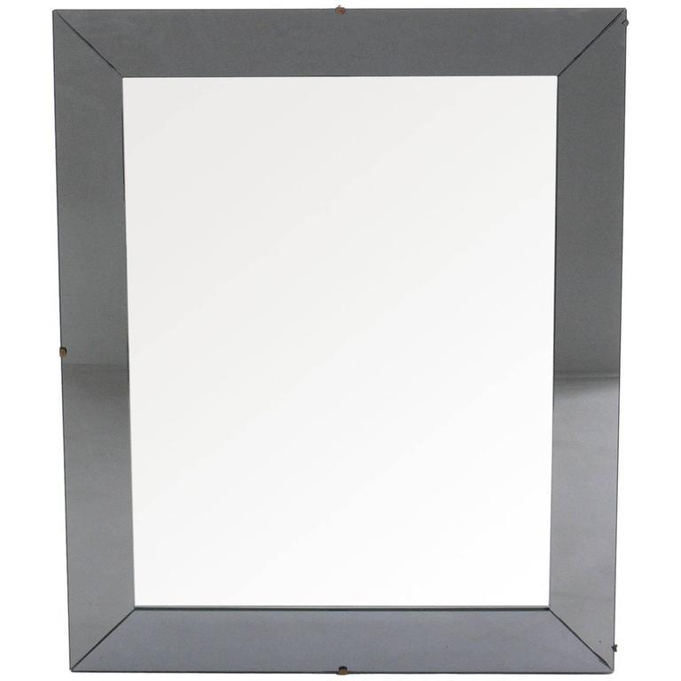 Elegant Mirror in Gun Metal Color Mirrored Glass Frame