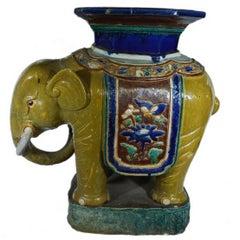 Antique Hand-Painted Annamese Ceramic Garden Stool from Viet Nam, 1900s