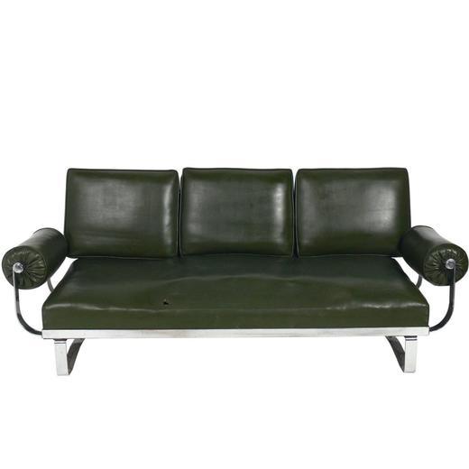 Superbe Rare Art Deco Chrome Strap Sofa By McKay For Sale At 1stdibs