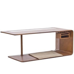Leather Dressed 1960s Desk from NK
