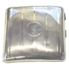 Art Deco Sterling Silver Cigarette Case