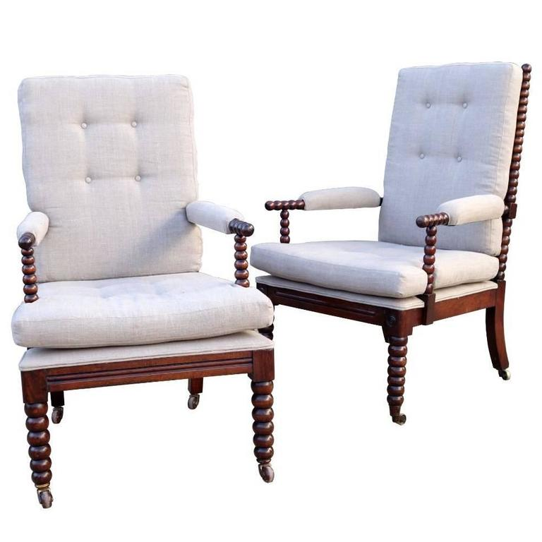 Pair of English Bobbin Chairs, circa 1900 1