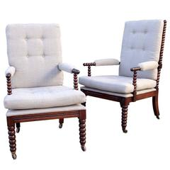 Pair of English Bobbin Chairs, circa 1900