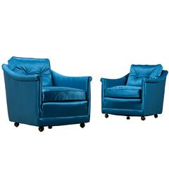 Henredon Club Chairs - Hollywood Regency