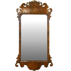18th Century George II Walnut Wall Mirror