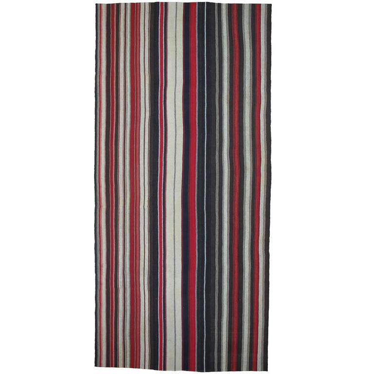 Large Kilim with Vertical Stripes For Sale