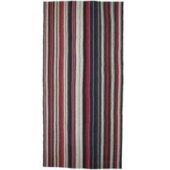 Large Kilim Rug with Vertical Stripes