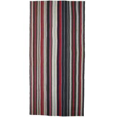 Large Kilim Rug with Vertical Stripes