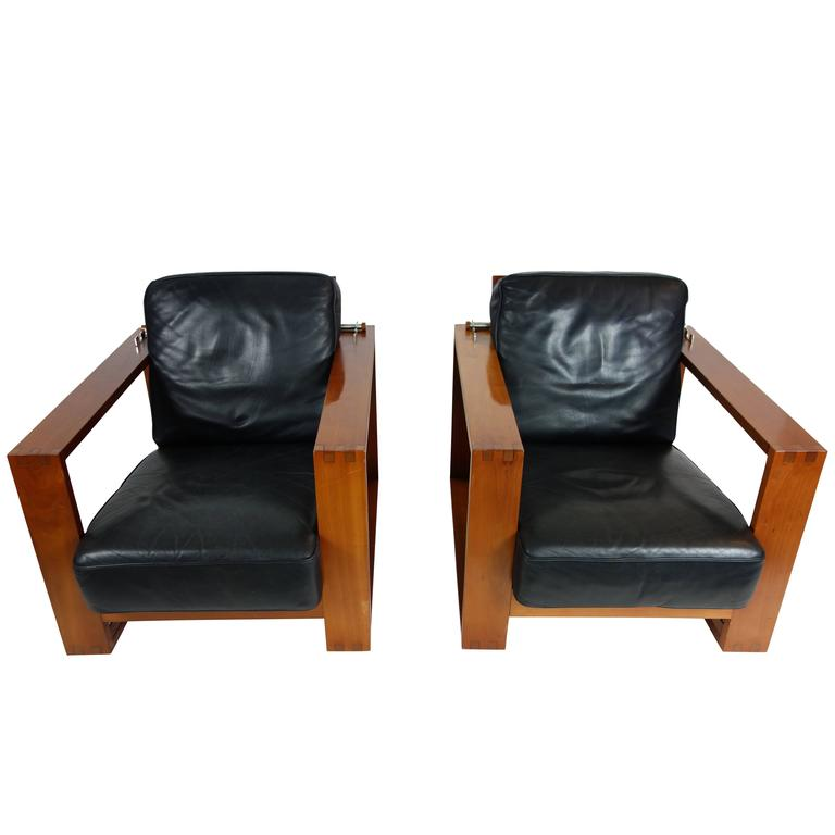 Pair Of Vintage Roche Bobois Lounge Chairs From The Trocadero Collection 1