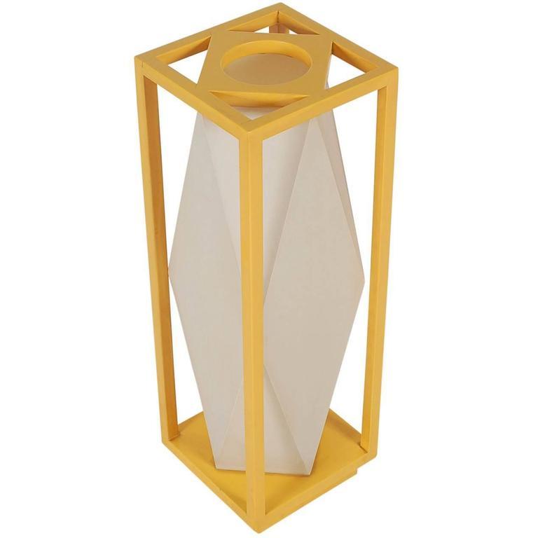 Fun Mid-Century Modern Geometric Pop Art Table Lamp After Stilnovo or Artemide For Sale