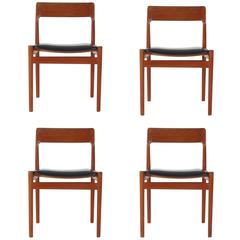 Mid-Century Danish Modern Johannes Norgaard Teak Dining Chairs