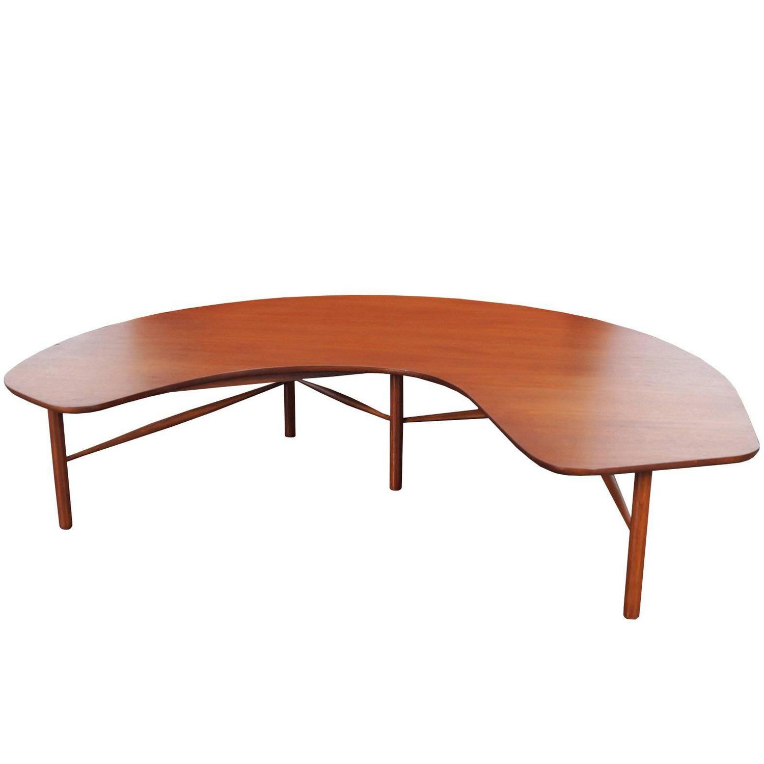 "Vintage ""Crescent Moon"" Coffee Table by Greta M Grossman at 1stdibs"