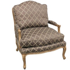 Louis XVI Style Carved Fauteuil