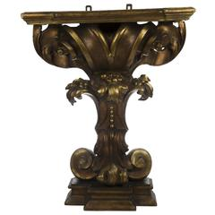 Louis XIV Giltwood Roman Console Table