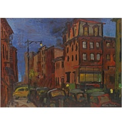 "Oil Painting ""Brooklyn"" 1940's"