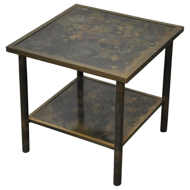 Philip and Kelvin LaVerne Bronze Side Table 1