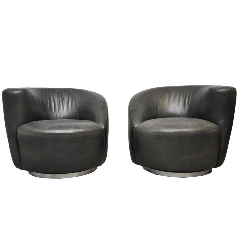 Vladimir Kagan Nautilus Swivel Chairs
