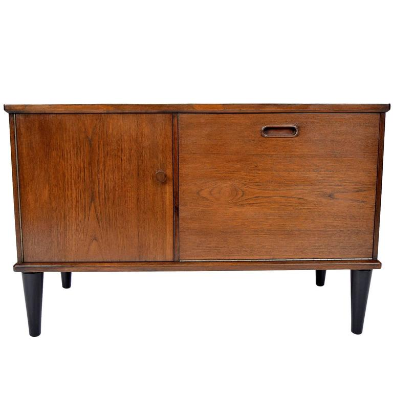 Danish mid century modern teak nightstand for sale at 1stdibs for Modern nightstands for sale