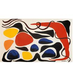 "Alexander Calder ""Dirty Blues"" Tapestry"