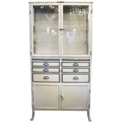 1890s, French, Dental Medical Cabinet with Drawers and Glass Shelves