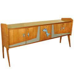 Italian Modern 1950s Sideboard with Biomorphic Pulls