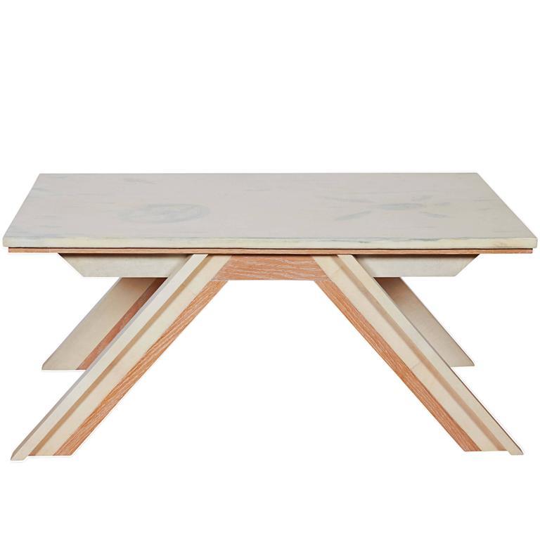 Beni Studio 'The Bridge' Coffee Table in Oak and Parchment