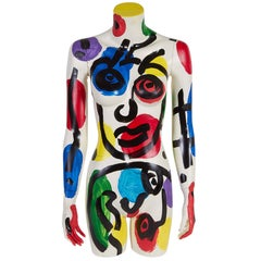 Peter Keil, Modern Painted Mannequin, Oil on Fiberglass, Signed and Dated