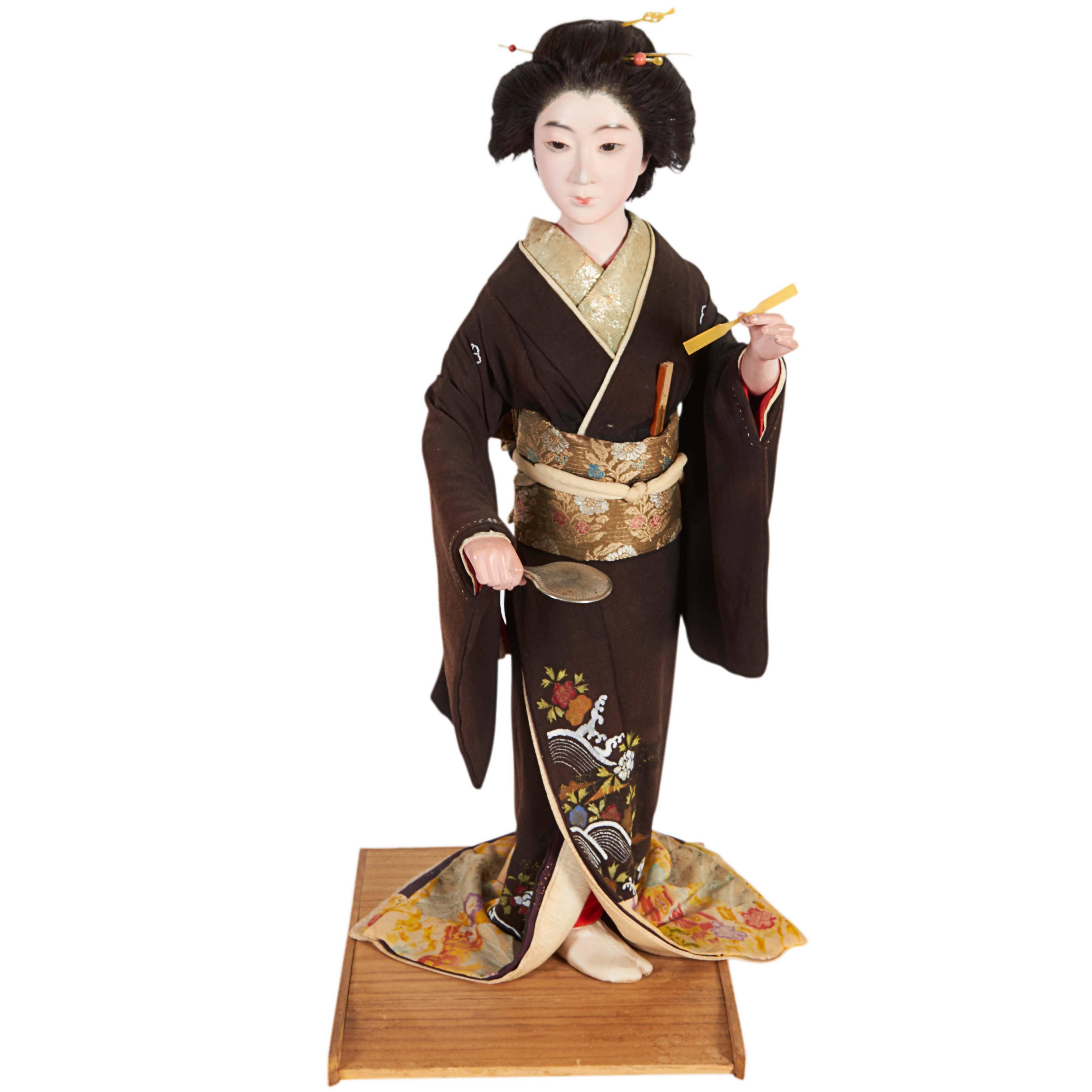 Japanese Meiji Period Iki Ningyo