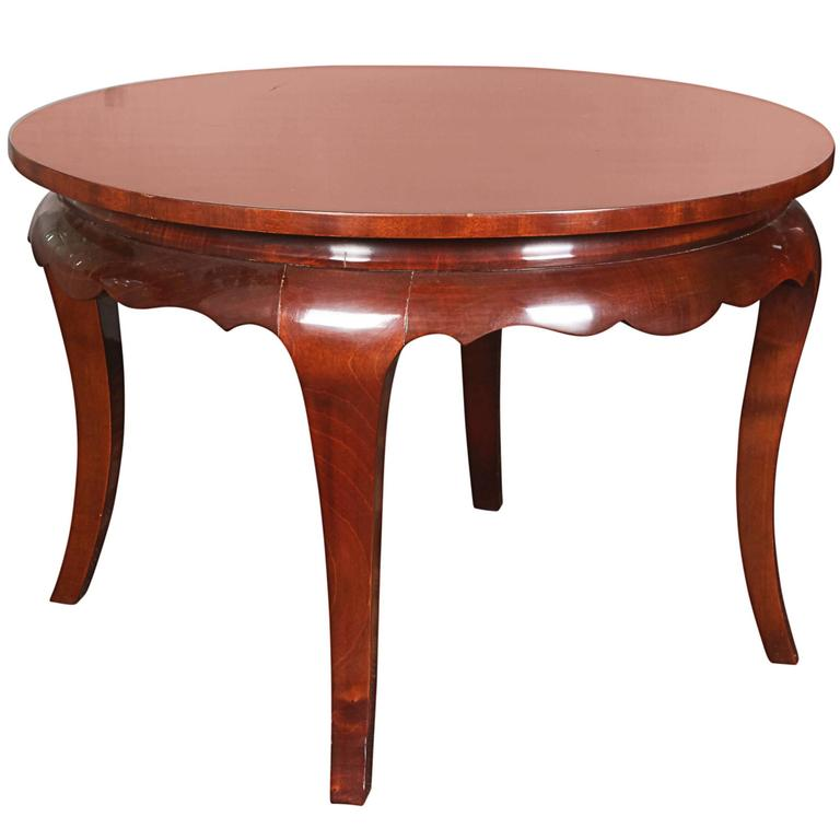 Art Deco Mahogany Round Coffee Table For Sale At 1stdibs