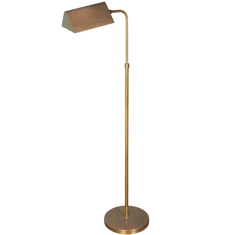 1960s Adjustable Floor Lamp in Brass
